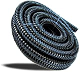 1m Black Corrugated Hose - 25mm