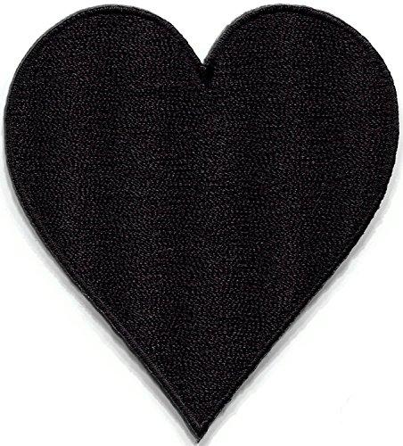 Schwarz Herz Suit Spielkarten Biker Retro Poker Las Vegas Gaming bestickt Aufnäher Patches Applikation
