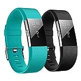 Hanlesi Fitbit Charge 2 Armbänder, Silikon Einstellbare Ersatz Sport Uhrenarmband Armband für Fitbit Charge 2 Smartwatch Armbander