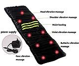 AMYMGLL Multifunktionale Infrarot Massage Matratze Elektrische Massage Kissen Körperpflege Massage Kissen Massager Foldable Home Massage Kissen Schwarz