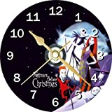 Nightmare Before Christmas Novelty Cd Clock + Free Desktop Stand