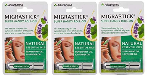 Migrastick (3ml) x 3 Pack Saver Deal by Arkopharma