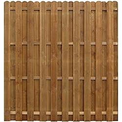 Xingshuoonline Sichtschutzzaun Kiefernholz Imprägniert Gartenzaun Gitterzaun Zaun 170x170 cm