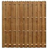 Festnight- Holz Sichtschutzzaun 170 x 170 cm Braun | Gartenzaun Windschutz Zaunpaneel Zaun aus Impr?gniertes Kiefernholz