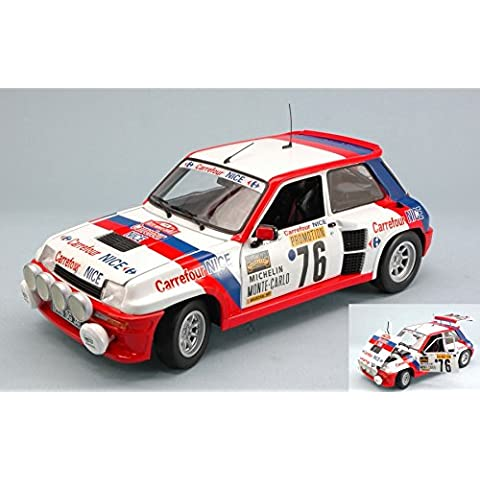 RENAULT 5 TURBO N.76 8th MONTE CARLO 1982 P.TOUREN-J.L.ALRIC 1:18 Universal Hobbies Auto Rally modello modellino die cast