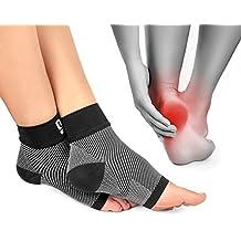 Premium Kompressionssocken lindern Fersensporn, Plantarfasciitis und Fuß Schmerzen   Fersensporn Socken grau