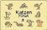 RAHMENLOS Original Schneidbrettchen: Katzen Yoga