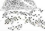 FreshGadgetz 4000 Diamond Scatter Crystals, Wedding Table Decoration, Wedding Table Ideas, Sparkle and Shining Crystal, Crystal Wedding - Silver - Diamond Crystals - Crystals Wedding - Table Crystals - Scatt