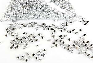4000 confettis argent de table de mariage de diamant de 4.5mm(4000 Silver crystals)