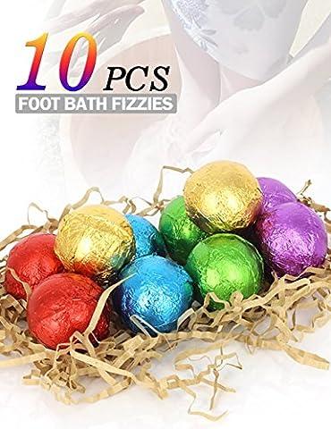BMK Foot Soak Bath Bombs Essential Oil Feet Spa Soap All Natural Organic Bath Salt Fizzies Eliminates Odors Softens Dry Calluses Detox Tired Feet