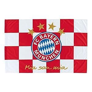 "FC Bayern München Fahne ""Karos"" 150x100cm: Amazon.de"