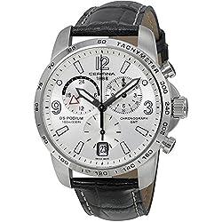 Certina Gents Watch Chronograph XL Leather C001,639,16,037,00 Quartz