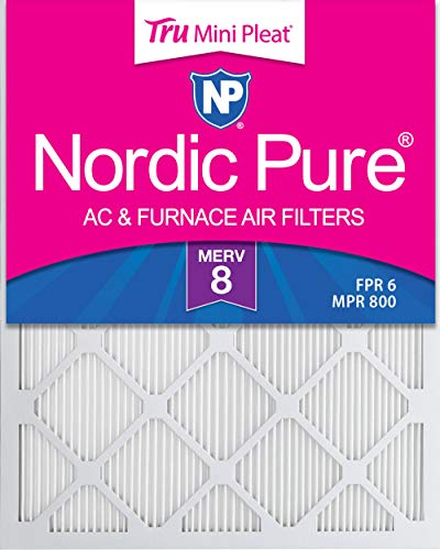 Nordic Pure 14 x 20 x 1 m8minipleat-3 Tru Mini Falte Merv 8 AC Ofen Air Filter (3 Pack), 35,6 x 50,8 x 2,5 cm