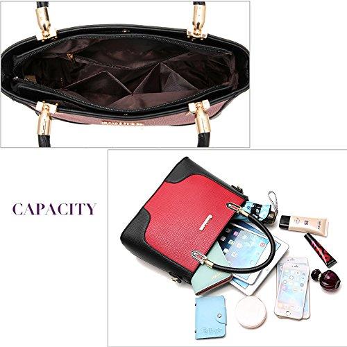(G-AVERIL)nuovo pacchetto onda signore borsa Messenger Bag donne per le donne borsa Vino rosso