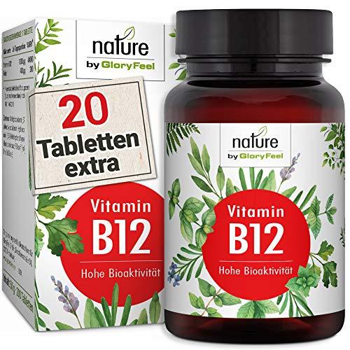 200 Tabletten - Der VERGLEICHSSIEGER 2019* - Beide Bioaktiven B12 Formen Adenosyl- & Methylcobalamin + Depot + 400µg Folsäure als 5-MTHF - Laborgeprüfte Herstellung in Deutschland ()