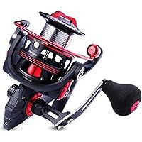 Carrete de pesca One Bass, ligero y giratorio, para agua salada y dulce, sistema de arrastre de fibra de carbono de 17,9 kg , con rodamiento de bolas 12+1