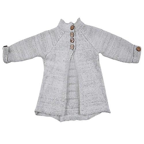 Strickjacken, Chshe Säugling Mädchen Stricken Wolle Mit Taste Kind Winter Warm Mantel(Eins zu Acht Jahre) (120(Fünf Jahre), Beige) (Stricken Wolle Strickjacke)