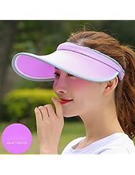 Hyun times Vider le chapeau en plein air crème solaire respirant en cours d'été avant-toits pas de top des hommes et des femmes sombre chapeau