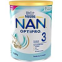 NAN OPTIPRO 3 - Preparado lácteo infantil - Fórmula de crecimiento en polvo - A partir de los 12 meses - 800g
