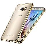 Coque Coque Galaxy S6, Transparent Clair Gel Silicone [Ultra Slim] + [Anti-Rayures] + [Anti-Choc] Bumper en TPU Souple Coque Clair Étui Housse pour Samsung Galaxy S6 S VI G9200 GS6