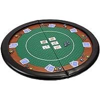 Riverboat Gaming Kompakte faltbare Pokerauflage mit grünem wasserabweidenden Stoff und Tasche – Pokertisch 120cm