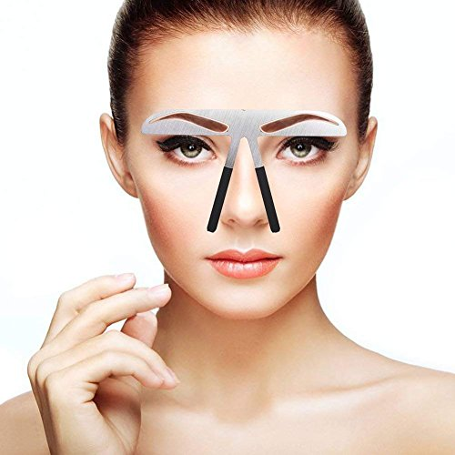 Augenbrauen-Muster DIY Schablone, Stainess Stahl Augenbrauen-Machthaber-Tätowierung Microblading dauerhaftes Verfassungs-Goldverhältnis-Positionierungs-Werkzeug(Klassische Augenbraue)