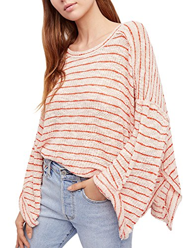 Free People Women's Striped Island Girl Hacci Women's Top 100% Cotton