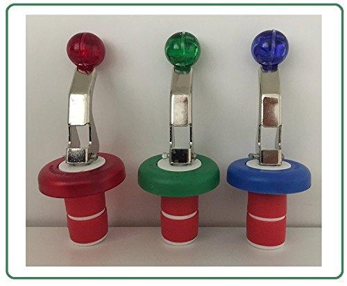 3er Set - Flaschenverschluss - Universal - In verschiedenen Farben