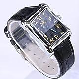 FENKOO Schöne Armbanduhren SEWOR/Herren-Kalender automatische rechteckige Gürtel mechanische Uhr mechanische Uhr (Color : 2)