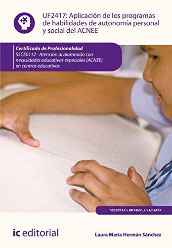 Aplicación de los programas de habilidades de autonomía personal y social del...