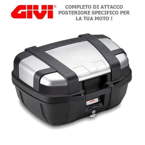 Maleta GIVI trk52N Trekker + sra5106para BMW C
