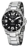 Reloj Stuhrling Original 395.33B11 de cuarzo para hombre, correa de acero inoxidable color plateado (agujas luminiscentes) de Stuhrling Original