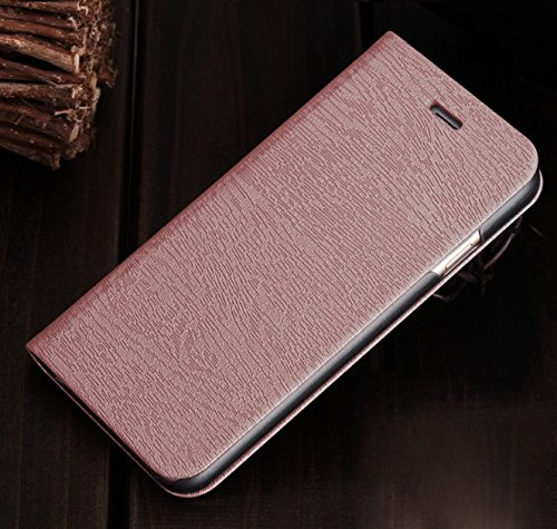 GoRogue Premium Luxury PU Leather Flip Stand Back Case Cover for Motorola Moto G4 Plus / G Plus 4th Gen [Rose Gold]