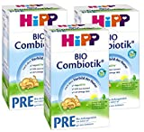 Hipp Bio Combiotik Pre - von Geburt an, 3er Pack (3 x 600g)