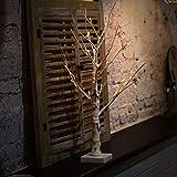 LED Birke Licht, weiße Äste, langlebig, für Innen und Außen, warmweißes Licht, silberfarbene Birke Zweige, Heimdekoration, LED Silber Birke Lampe Free Size weiß
