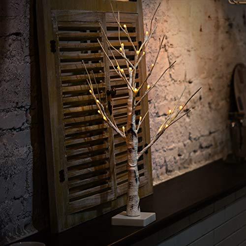 Decorazione per la casa a forma di betulla, con rami bianchi, con luci a led, resistente, per interni ed esterni, con luce bianca calda taglia libera bianco