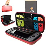 Orzly Carry Case Compatible With Nintendo Switch , Red