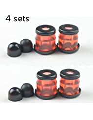 Skateboard longboard Truck Bushings HR-90A with washers and pivot cups 4-Sets (Rojo transparente)