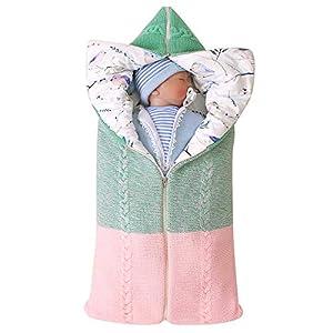Haokaini manta de pañales para bebés recién nacidos silla de paseo envolvente cambiable saco de dormir estera de saco de…