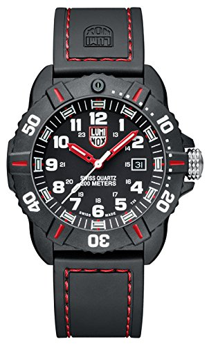 New Luminox Men's 3035 Cornado Red and Black Watch