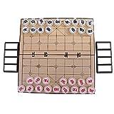 MagiDeal Hochwertige Magnet Schach - Faltbar & Tragbar Schachspiel - Traditionelle Chinesische Schach Satz - Spielzeug Geschenk für Kinder und Erwachsene