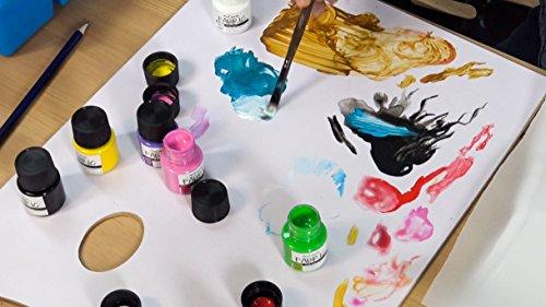 Pintura para Tela y Ropa Mont Marte Permanente y Resistentes al Agua - Set 8 Colores x 20ml - Pintura Textil para Adultos y Niños Ideal para Decorar toda clase de Tejidos, Camisetas, Bolsas, Vaqueros