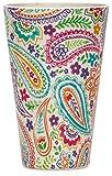 SIKORA CUP1 4er Set Trink- und Saftbecher 400ml aus nachhaltiger Bambusfaser 100% BPA frei, Modell/Farbe:Paisley bunt 4er Set