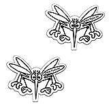 Durchlaufschutz für Fliegengitter Insektenschutzgitter Fliegengitter Fliegenschutzfenster als Aufkleber - Folien Ersatz ähnlich wie Folie auch gegen Vogel Flug (weiss - weiss)