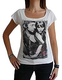 Gainsbourg Birkin : T-shirt Femme imprimé photo de star,t shirt femme,cadeau