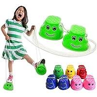 Monbedos Balancín de plástico grueso para niños con balanceo, juguetes, juegos al aire libre para caminar y saltar (color al azar)