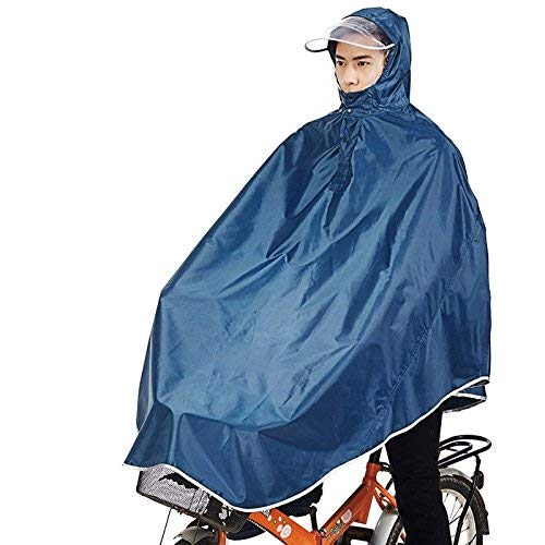 Tourwin - Poncho Impermeabile e Antivento con Cappuccio per Bicicletta, 1 Confezione