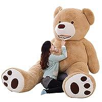 YOUHA 100cm-200cm America Giant Teddy Bear Plush Toys Soft Teddy Bear Skin Popular Birthday & Valentine