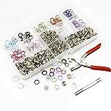 Metall Druckknöpfe Presse Schaltflächen mit Snaps Zange Kit für Baby Kleidung Sewing Craft 200 Sätze 10 Farben
