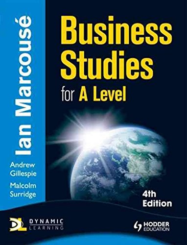 [Business Studies for A-level] (By: Ian Marcouse) [published: July, 2011]